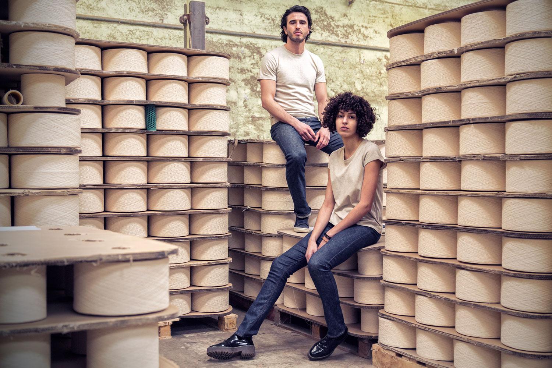 Le premier jeans made in France en lin. A la rencontre de Davy DAO. Mademoiselle Coccinelle, blog mode éco responsable
