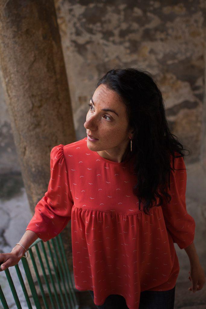 Blouse made in France Danielle Engel, marque de mode éthique à Montpellier, présentée par Mademoiselle Coccinelle, blogueuse mode responsable