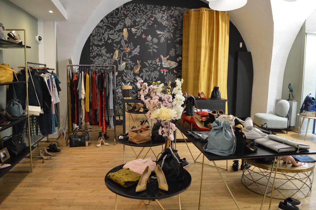 Intérieur de la boutique de mode vegan et éco-responsable Les 3 L à Montpellier