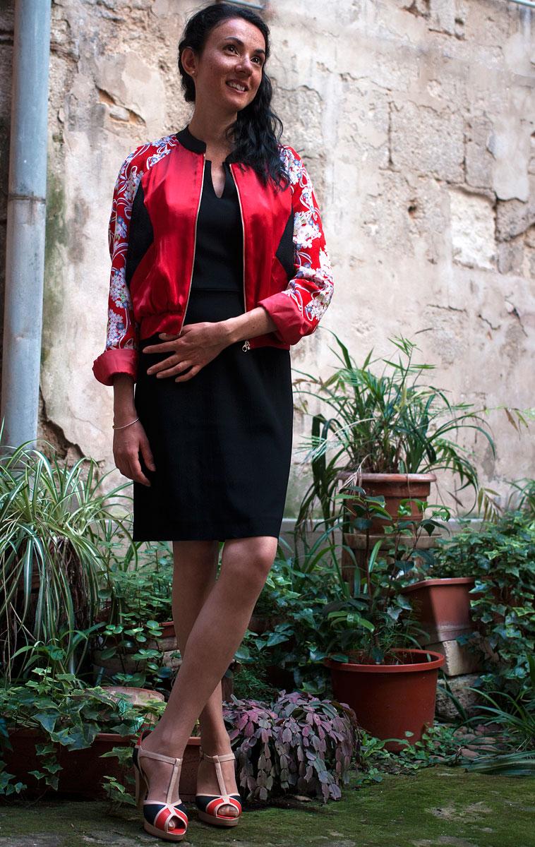 Vêtements made in France Danielle Engel, marque de mode éthique à Montpellier. Look présenté par Mademoiselle Coccinelle, blogueuse mode responsable