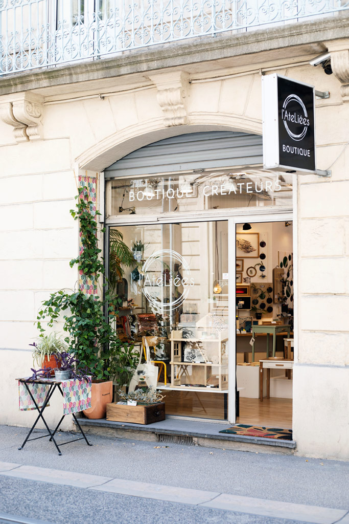 L'AteLiées, boutique de créateurs made in France à Montpellier.