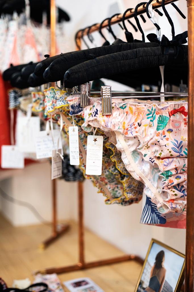 Culottes en coton bio made in France de la créatrice Popline. Chez L'AteLiées, boutique de mode éthique à Montpellier.